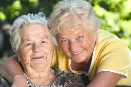 Doppelportrait zweier älterer Menschen